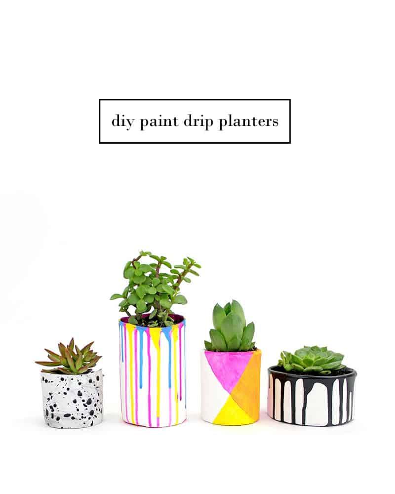 DIY-Paint-Drip-Planters-@linesacross