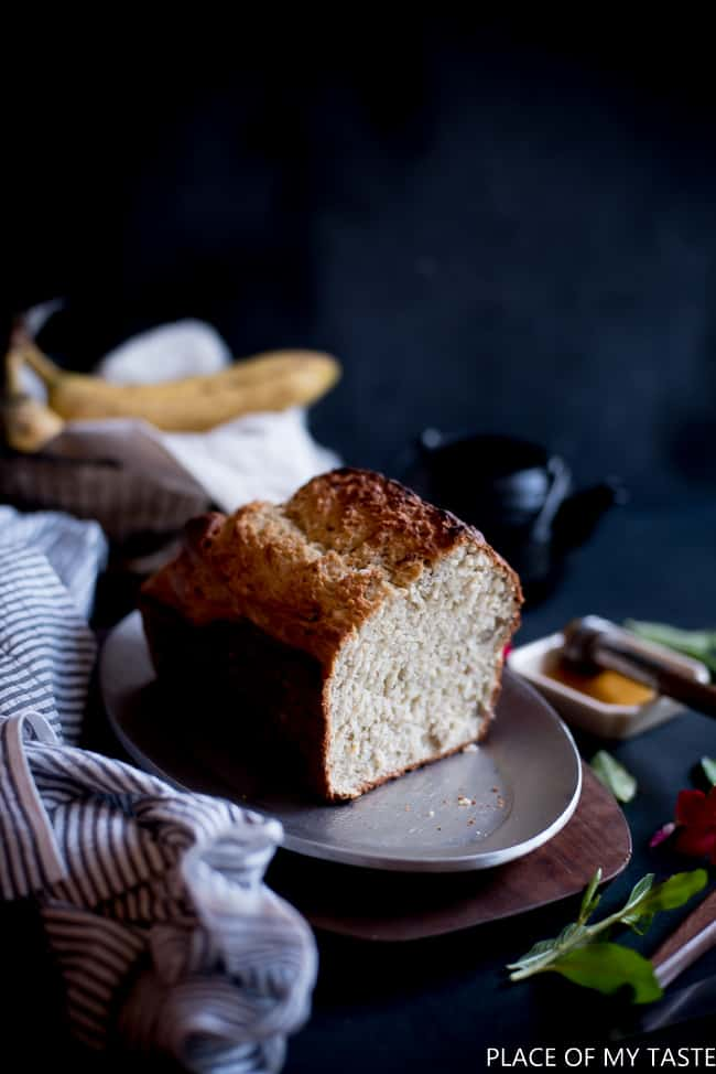 This is the best banana bread recipe. It's soft, fluffy and not too sweet. Only requires a few ingredients that you might find in your pantry.