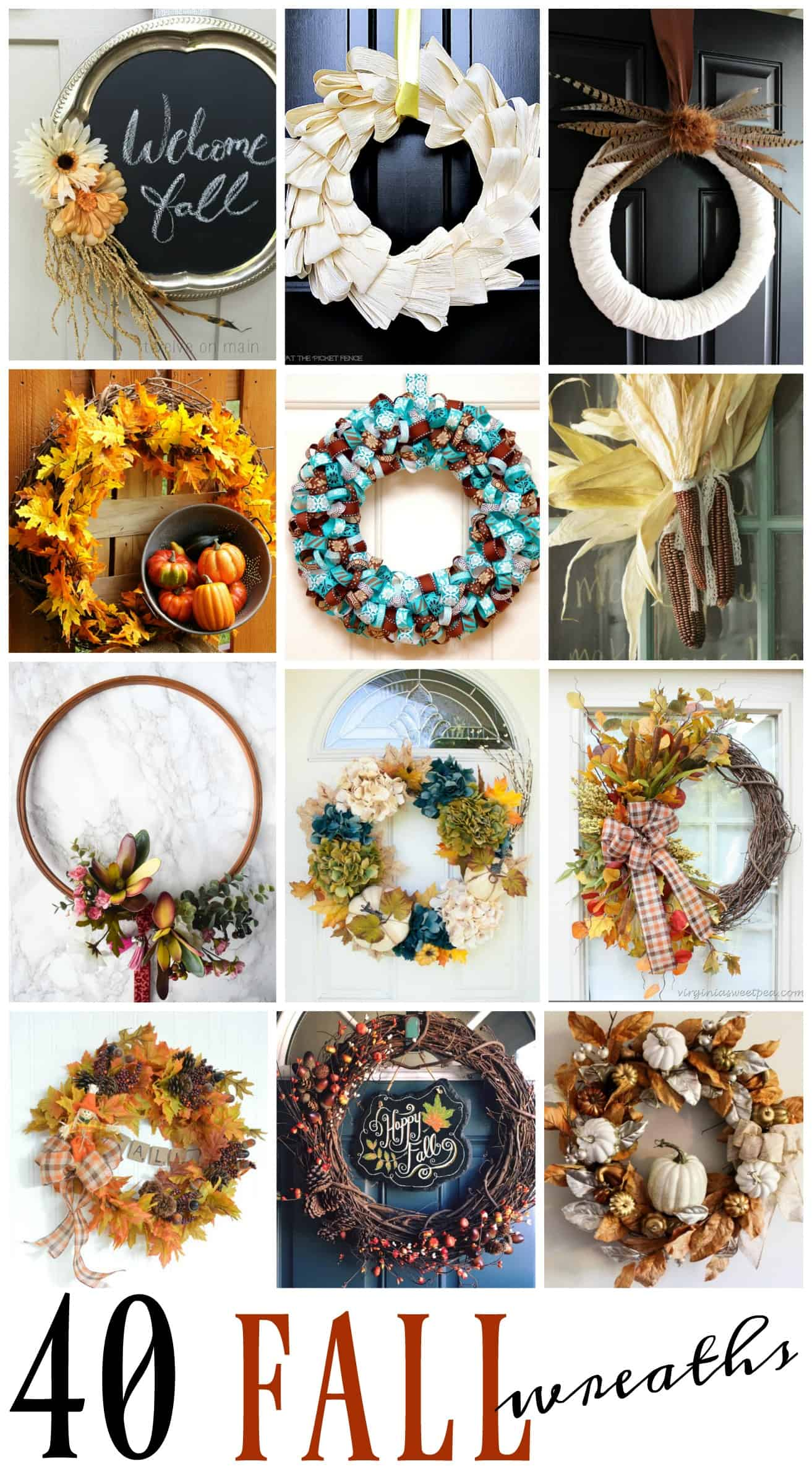 40 fall wreaths