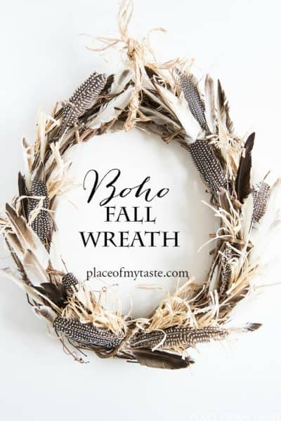 BOHEMIAN FEATHER WREATH FOR FALL
