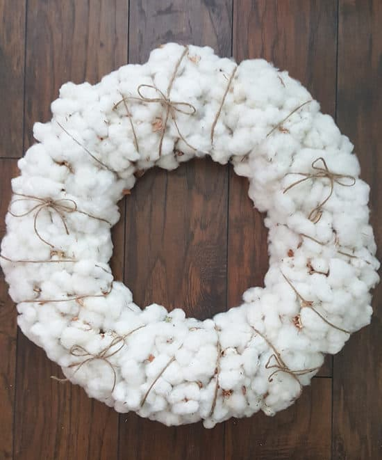 Fall-Decorating-Cotton-Wreath-wrapped-with-twine-550x661