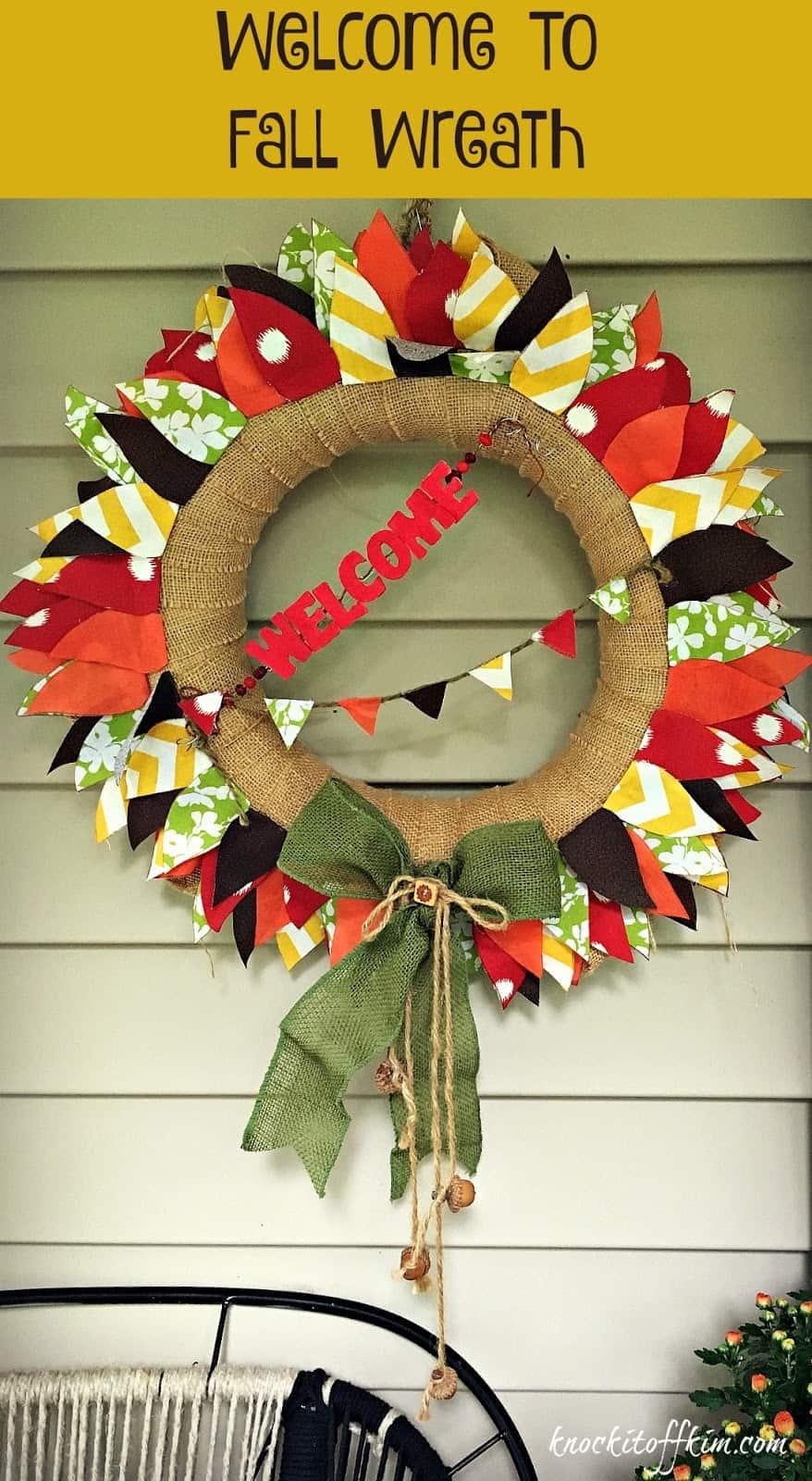 Fall Wreath Pin