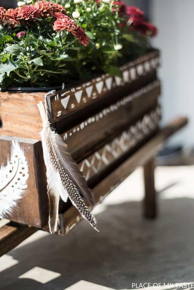 bohemian-wheelbarrow-planter-1-of-9