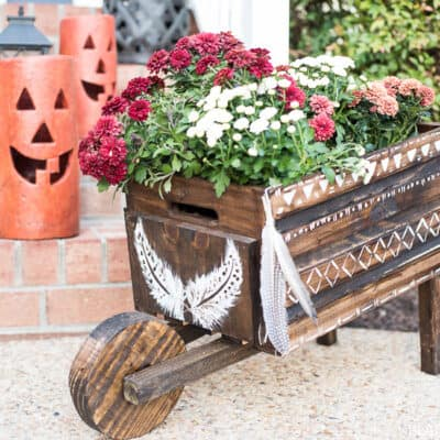 DIY BOHEMIAN WHEELBARROW