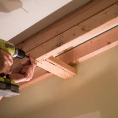 DIY BATHROOM RECESSED LIGHTING ONE ROOM CHALLENGE WEEK 4