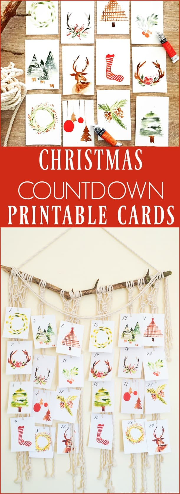 photograph about Printable Christmas Countdown identify Xmas COUNTDOWN PRINTABLE - House OF MY Style