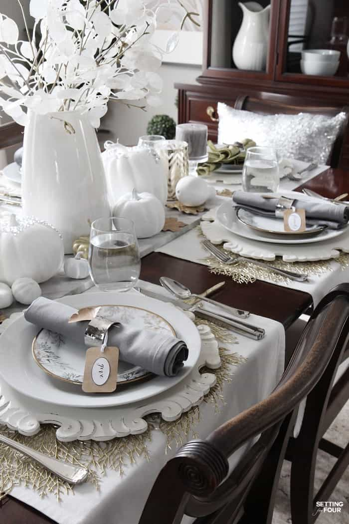 Beautiful thanksgiving table setting ideas work it for Gorgeous thanksgiving table settings