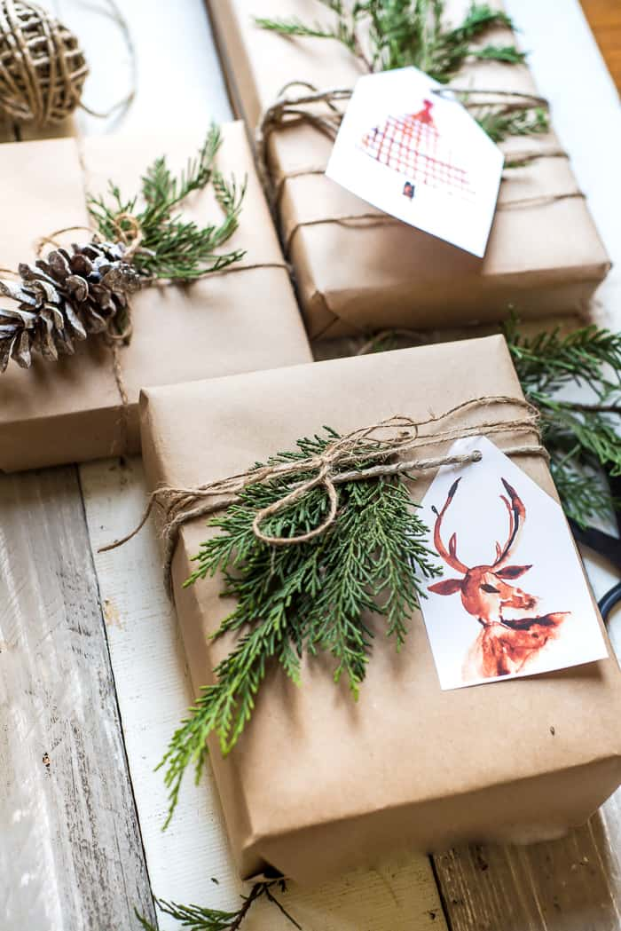 brown paper gift wrapping ideas place of my taste