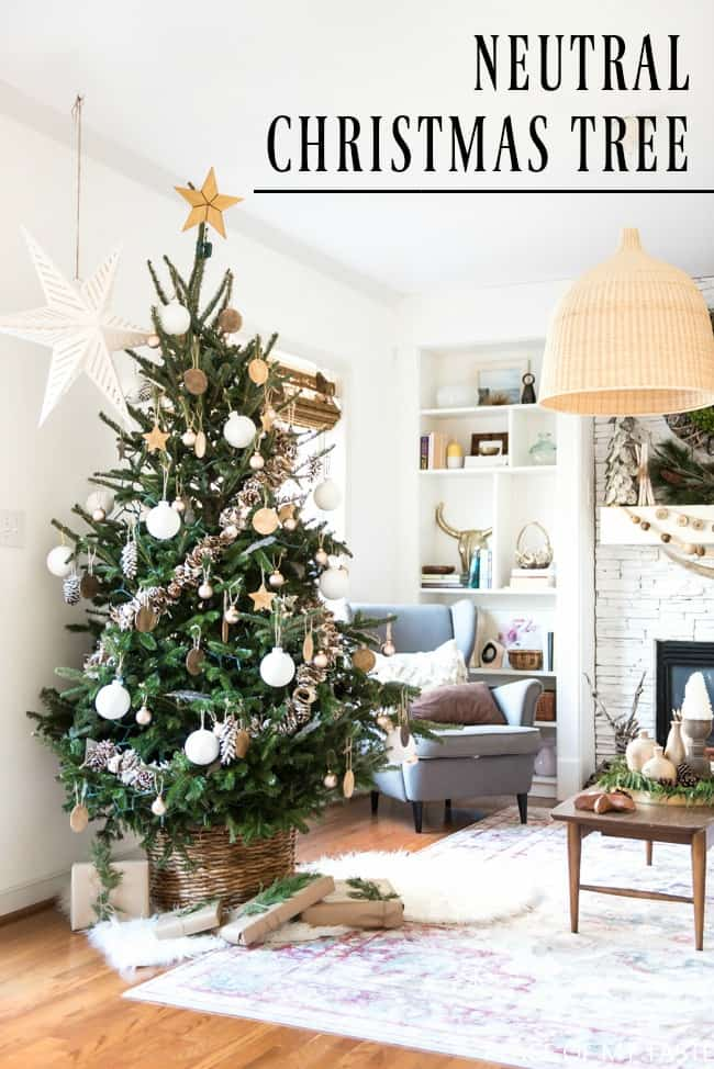 neutral christmas tree decoration - Neutral Christmas Decor