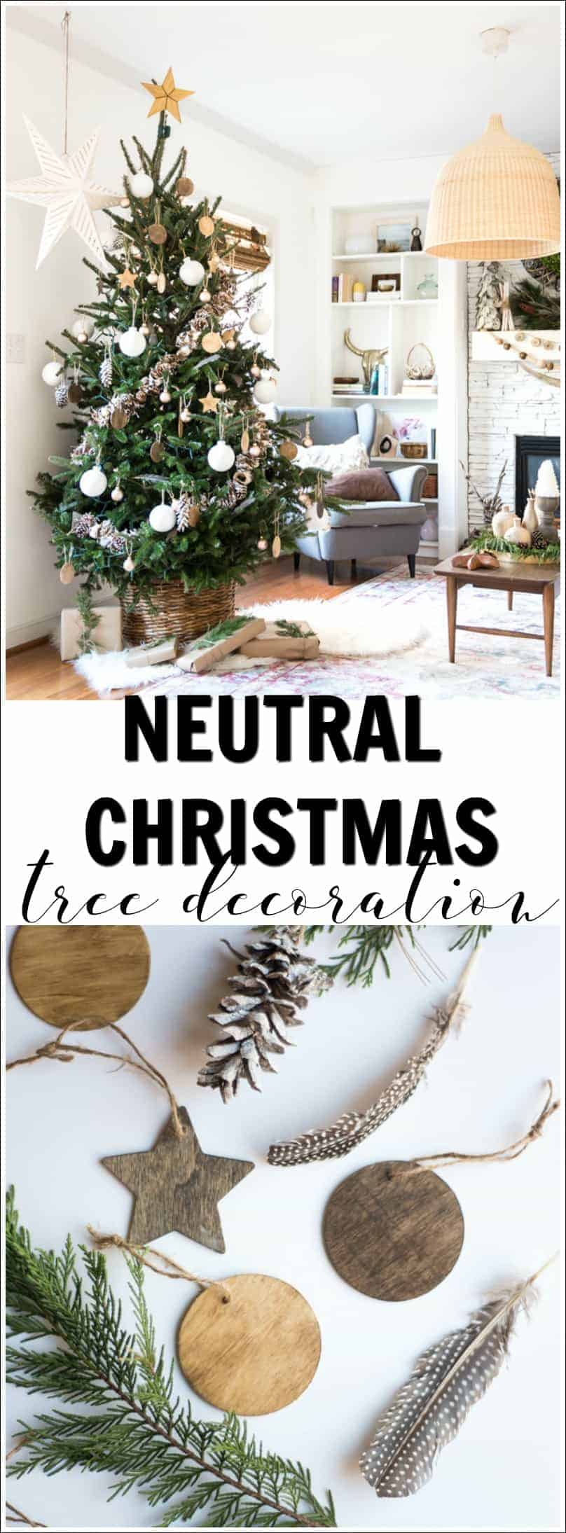 if you like my style you can also check out my bohemian christmas mantel - Neutral Christmas Decor