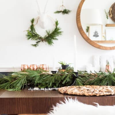 SIMPLE DINING ROOM CHRISTMAS DECOR