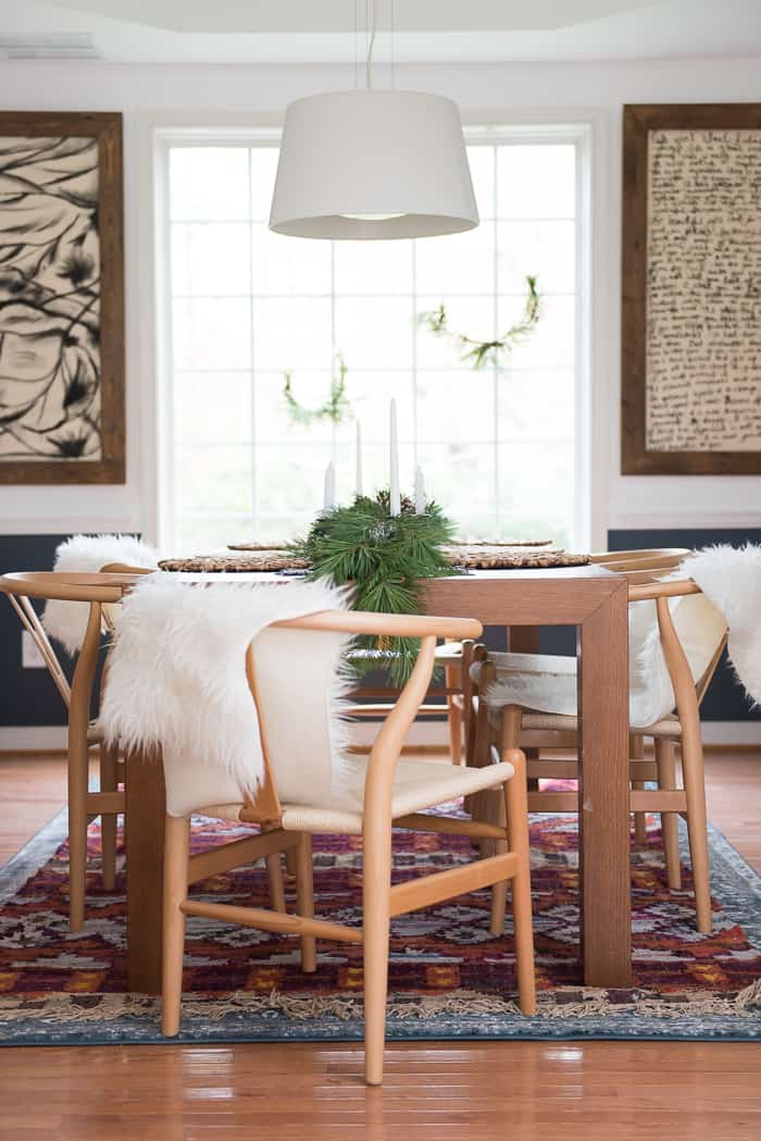 dining room christmas decor - Simple Dining Room