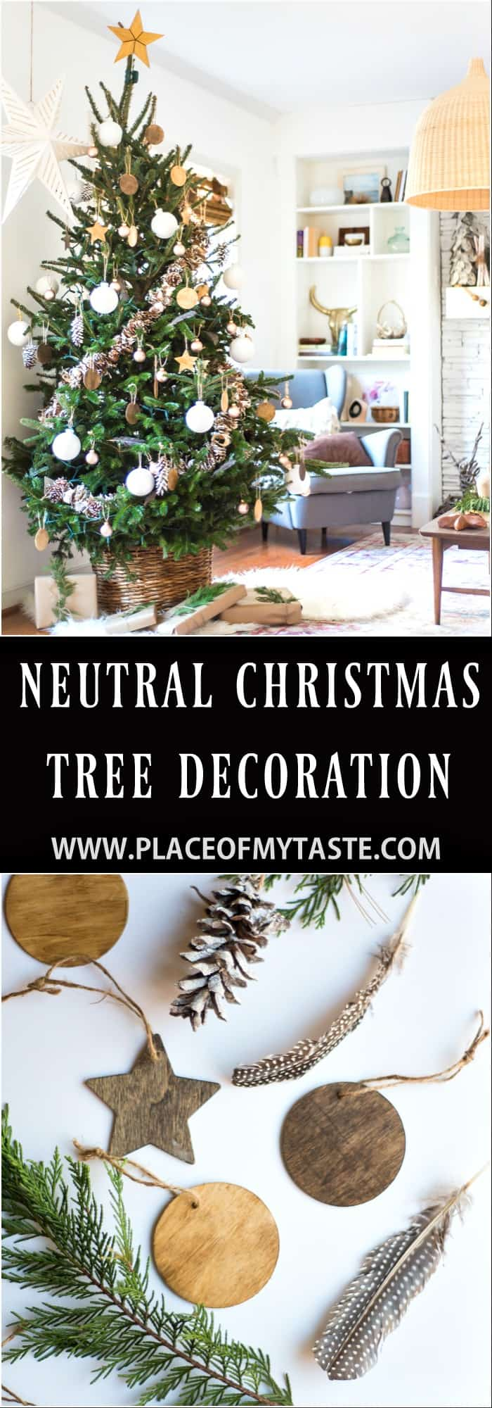 NEUTRAL CHRISTMAS TREE DECORATION