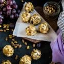DATES, GRAPES AND CREAM CHEESE BALLS SNACK