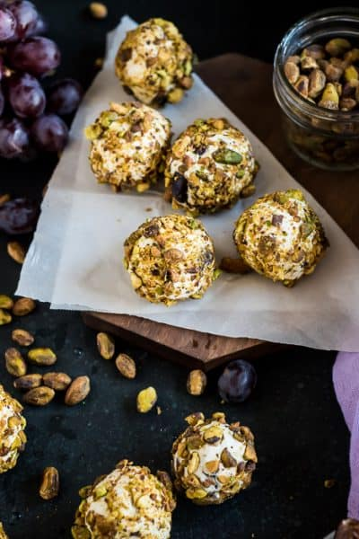 grape balls with nuts dates and cream cheese
