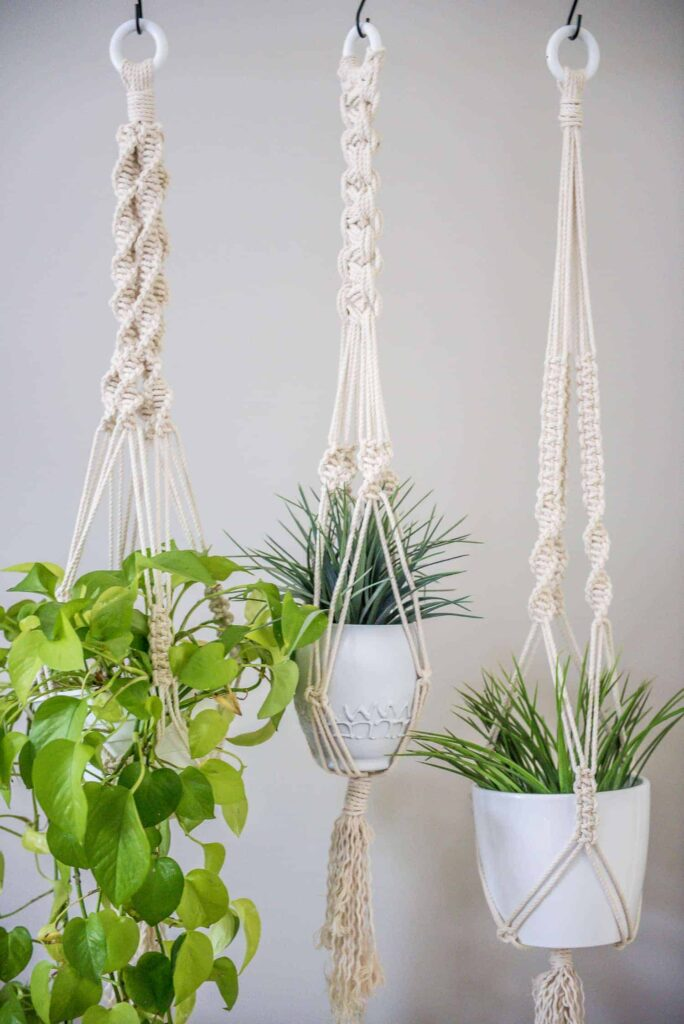 photo regarding Free Printable Macrame Plant Hanger Patterns named Discover A few Very simple MACRAME KNOTS In direction of Make YOUR WALL Putting