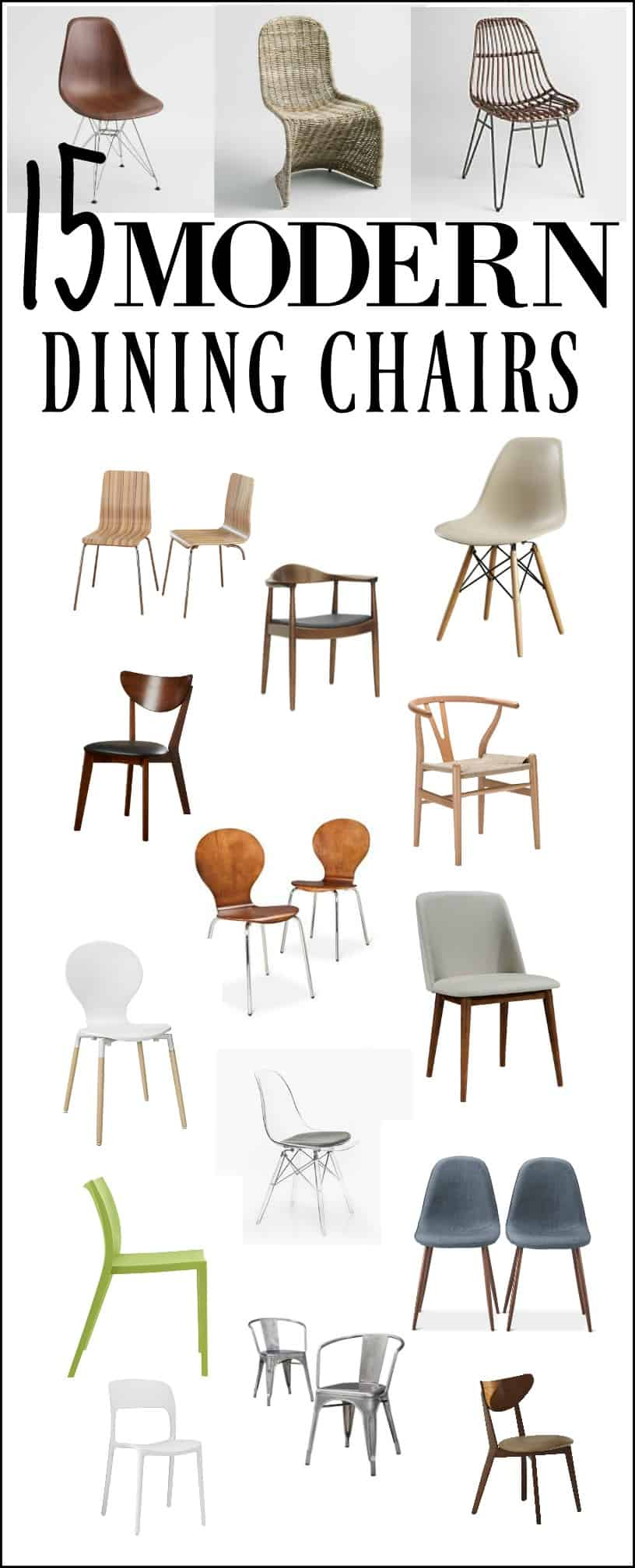 Modern dining chairs that are affordable, stylish and good looking!