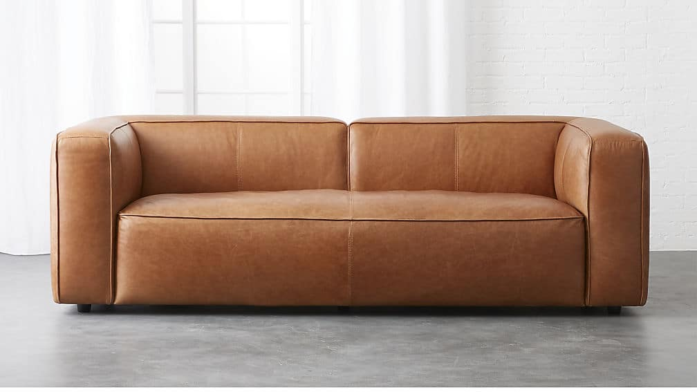 ENYX LEATHER SOFA Tan Leather Sofas Are So Much In Style These Days.My  Hamilton Leather Sofa Is