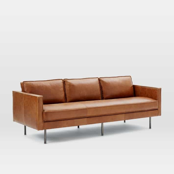 Tan Leather Sofas Are So Much In Style These Days.My Hamilton Leather Sofa  Is