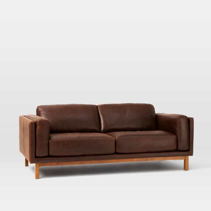 Tan Leather Sofas Are So Much In Style These Days My Hamilton Sofa Is