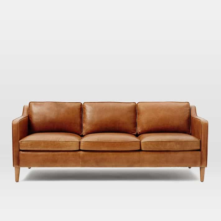 Tan leather sofas i love all these fun and modern leather for Modern leather furniture