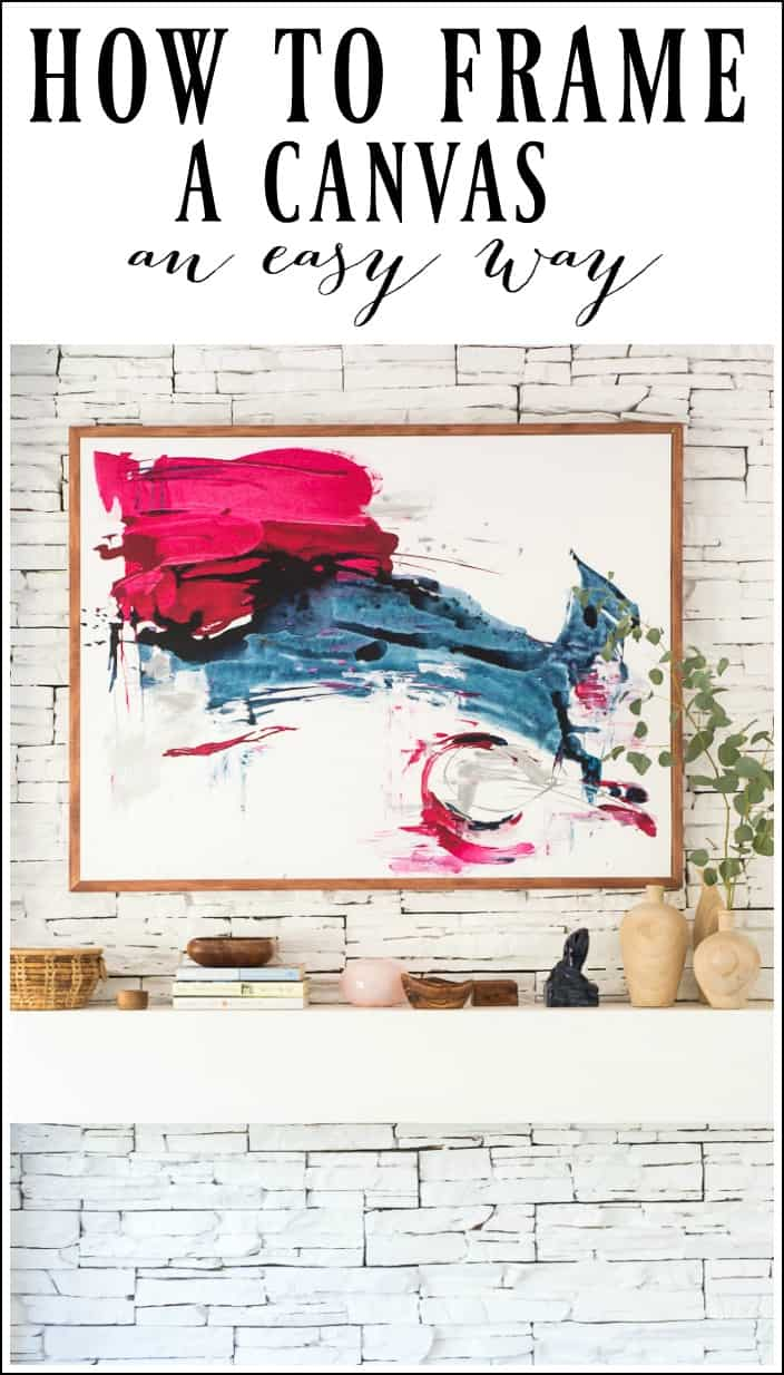 This easy DIY tutorial will show you how to frame a canvas. I love to display my art pieces and by framing a canvas it will look much more professional.