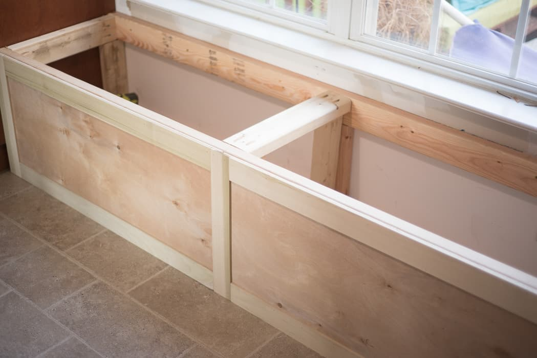 Diy Built In Storage Bench Tutorial One Room Challenge Week 3