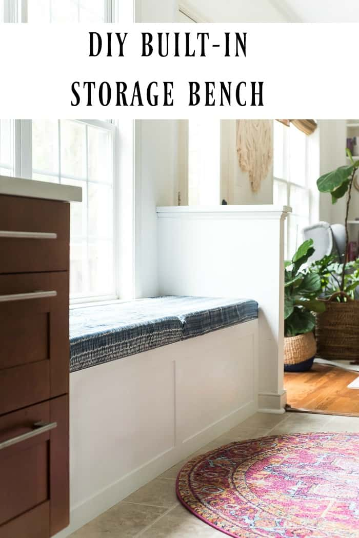 Wondrous Diy Built In Storage Bench Tutorial One Room Challenge Creativecarmelina Interior Chair Design Creativecarmelinacom