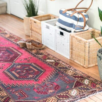 ENTRYWAY UPDATE WITH A PERSIAN RUNNER FROM eSaleRugs
