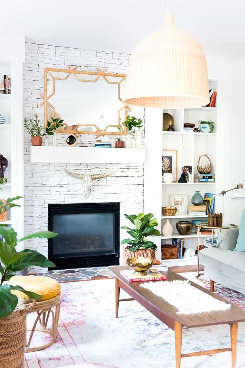 MANTEL DECOR UPDATE WITH SERENA & LILY BAMBOO MIRROR - PLACE OF MY TASTE