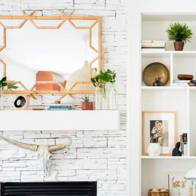 MANTEL DECOR UPDATE WITH SERENA & LILY BAMBOO MIRROR