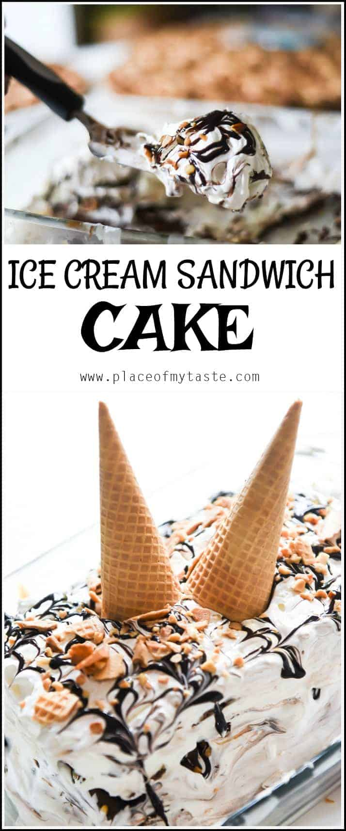 Wow! This dessert is super easy to make and SOO delicious! The best ice cream sandwich cake ever! Your guests will lick their 10 fingers for sure!
