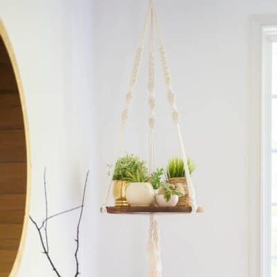 DIY FLOATING SHELF – MACRAME VERSION