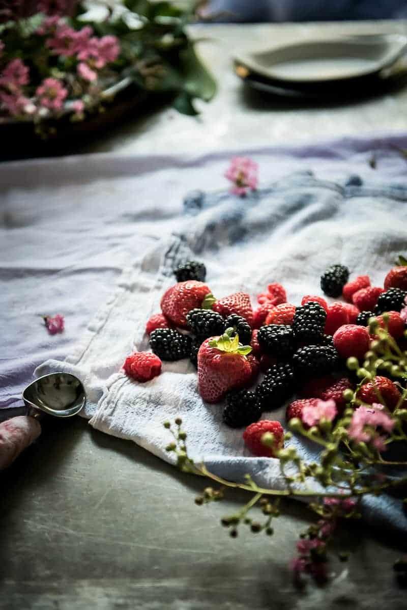 Mixed Berry Frozen Yogurt
