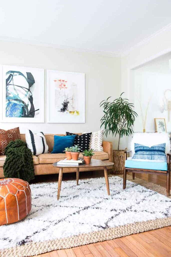 Check out this stunning Boho Fall Home Decor living room