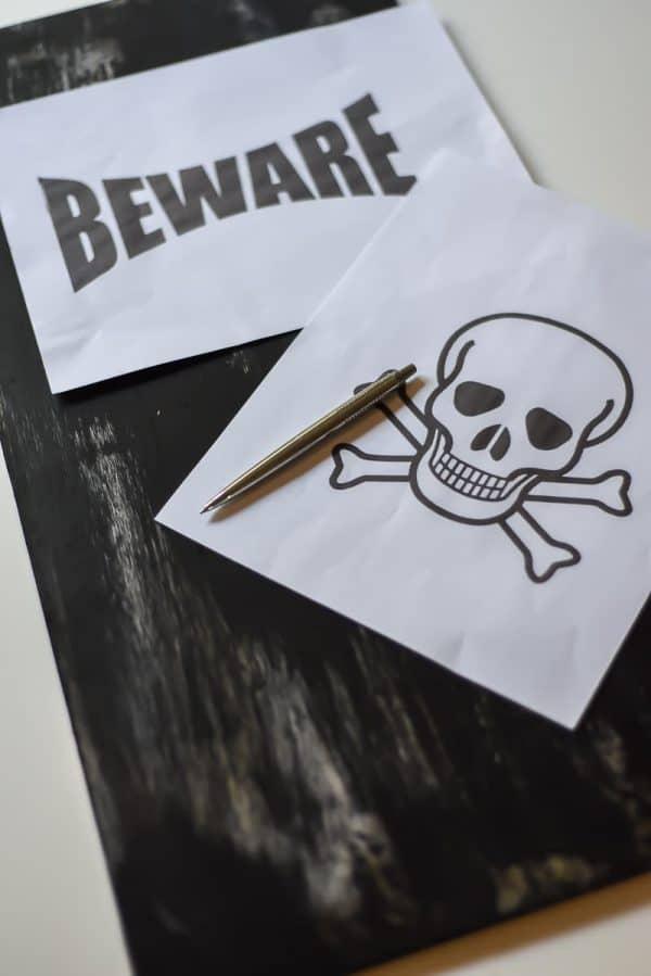 beware sign for halloween