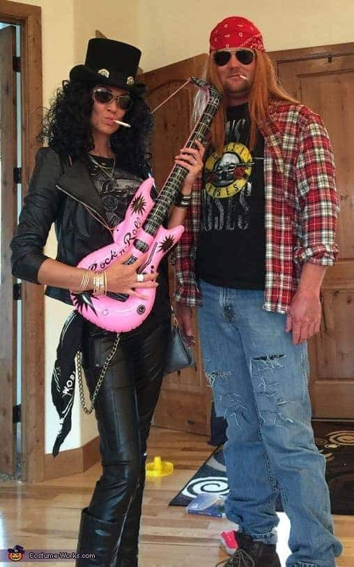 Axl and Slash halloween costumes