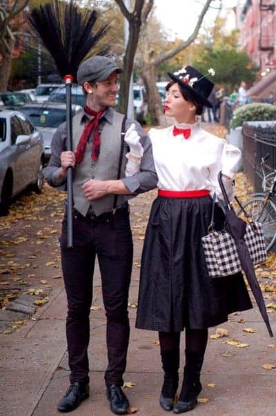 Mary Poppins and Bert halloween costumes