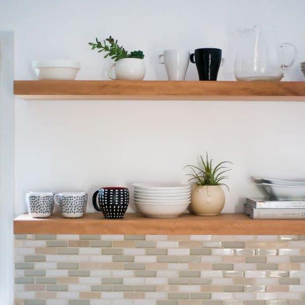 Hanging Open Kitchen Shelves: Live And Eat Beautifully