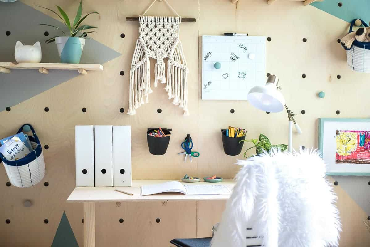Diy Plywood Pegboard Wall So Cool And