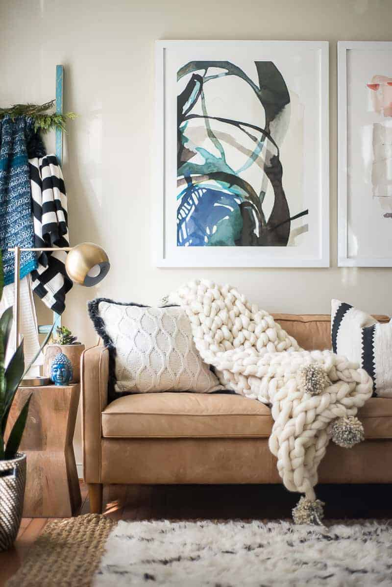 Arm Knit Blanket Tutorial #armknit #knitting #knittingablanket #blanketknitting #knitcraft #textileart #blanket #DIYblanket