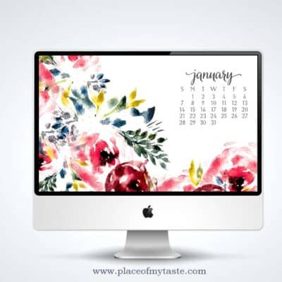 FREE WATERCOLOR DESKTOP SCREENSAVER – JANUARY
