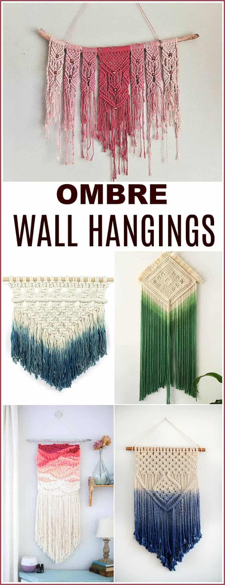 This Ombre Wall hanging is simply amazing! Make yours!