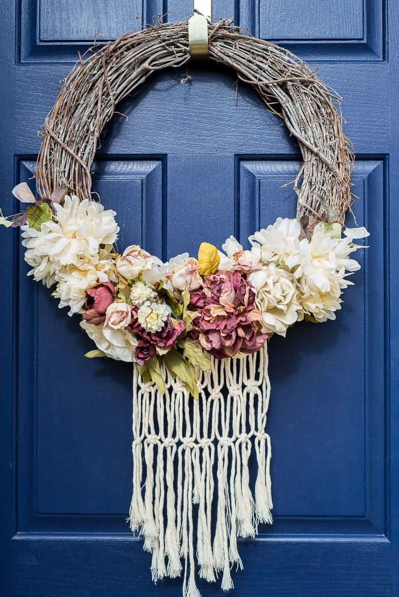 Boho Spring Wreath Do You Like A Touch Of Macrame This
