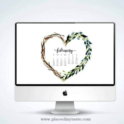 FREE WATERCOLOR DESKTOP SCREENSAVER – FEBRUARY
