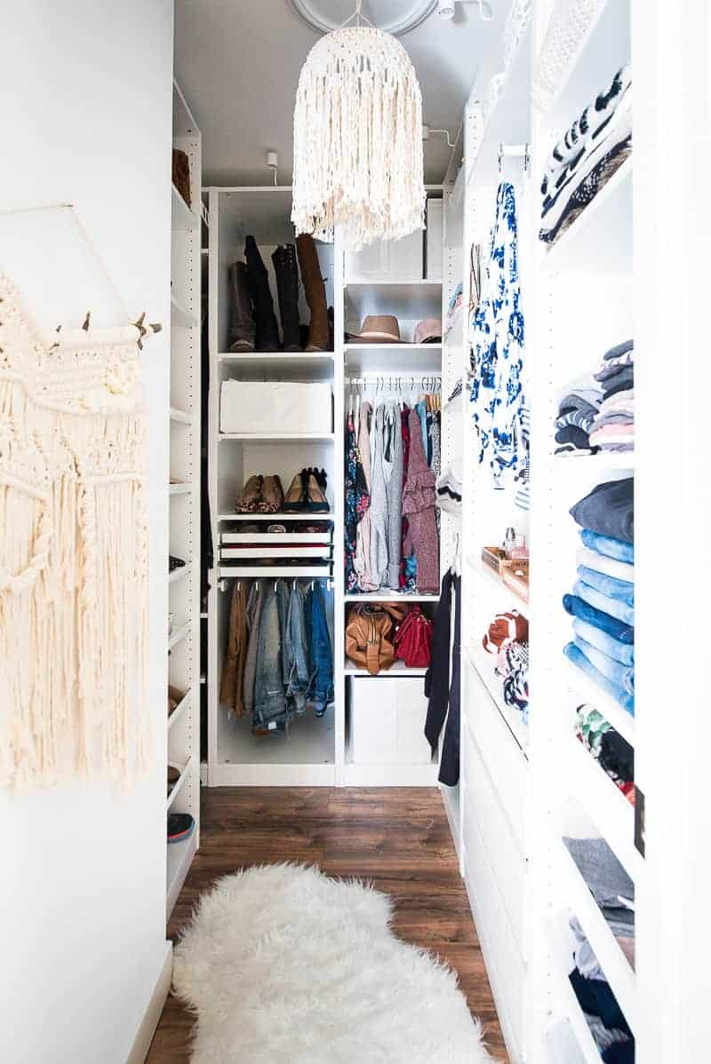 Walk in closet Cheap Cant Even Believe That Its The Same Space Guys Purged Lot But Nearly Not As Much As Thought Would Its Incredible How Easily All My Clothing Rare Delights Magazine Walkin Closet Makeover With Ikea Pax Wardrobe This Is Gorgeous