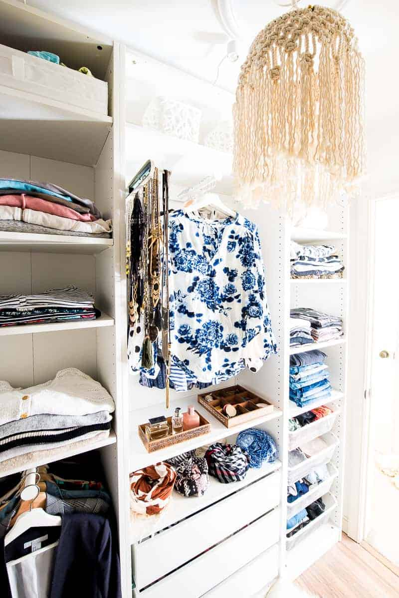 Walk In Closet Makeover With Ikea Pax Wardrobe This Is