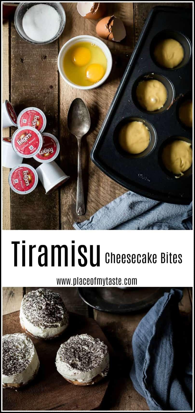 Tiramisu Cheesecake Bites #tiramisu #italiandessert #cheesecake #espressodessert