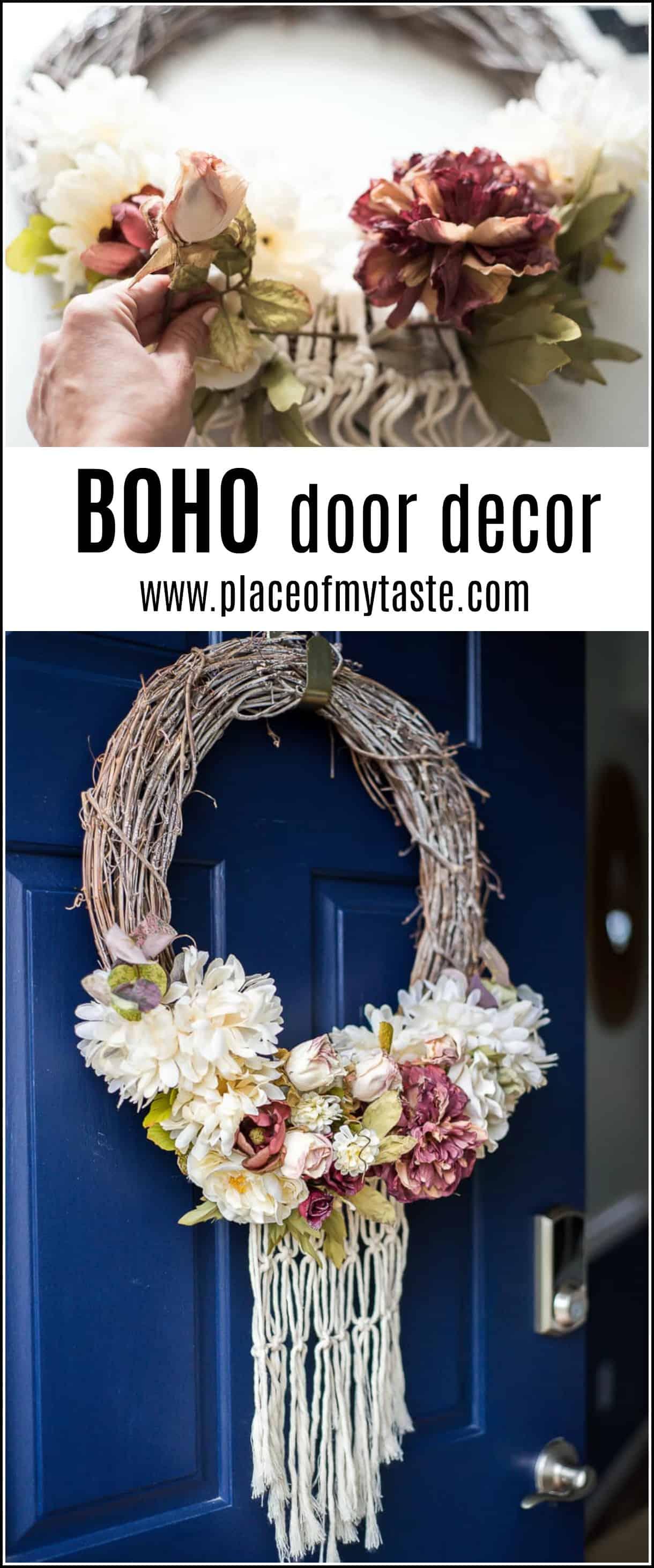 Spring wreath BOHO
