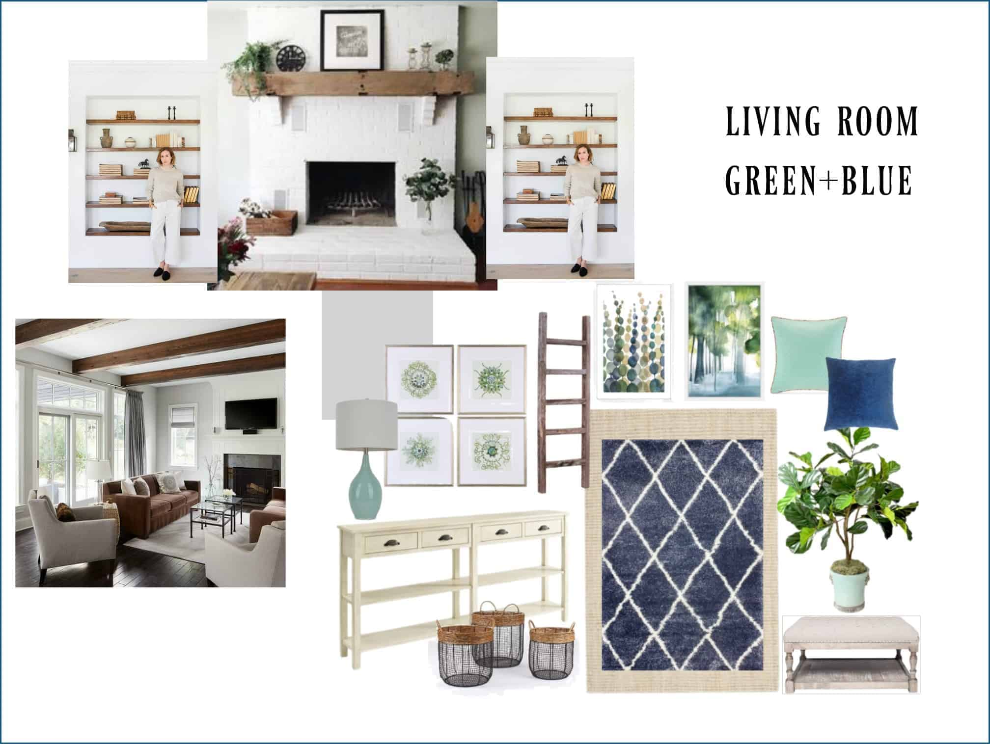 mood board for living room makeover 1